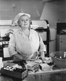 自助食堂夫人(所有人被描述不更长生存,并且庄园不存在 供应商保单将没有模型 库存照片
