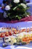 自助餐不同的清淡的快餐 免版税图库摄影