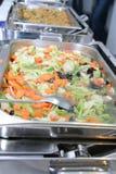 自助餐中国人食物 免版税库存照片