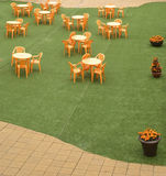 自助餐厅大阳台 免版税库存图片