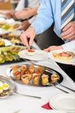 自助餐商业公司会议快餐 免版税库存照片