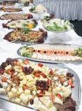 自助餐快速膳食表 图库摄影