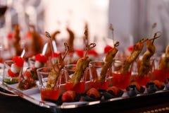 自助餐桌食物 免版税图库摄影