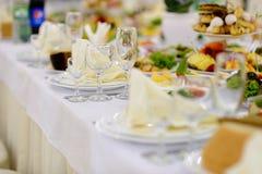 自助餐桌,膳食 图库摄影