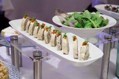 自助餐正餐沙拉 库存图片