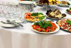 自助餐的食物 免版税图库摄影
