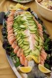 自助餐鱼海鲜 库存图片