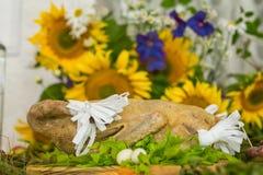 自助餐,开胃菜,婚姻的桌 免版税库存图片