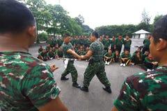自卫技术训练警卫的 图库摄影