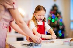 自圣诞前夕的家庭烘烤 库存图片