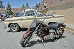 自定义摩托车 库存照片
