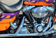 自定义摩托车 免版税库存照片