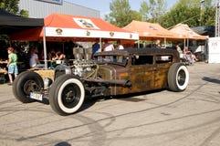 自定义旧车改装的高速马力汽车 免版税库存照片