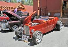 自定义旧车改装的高速马力汽车 免版税库存图片