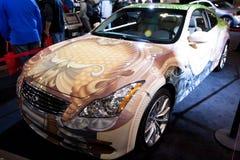 自定义g无限被绘的轿车 免版税库存图片