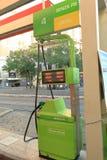 自已服务在街道上的加油站TotalErg在罗马,意大利 库存图片