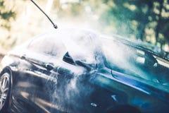 自已汽车洗涤物 免版税库存图片