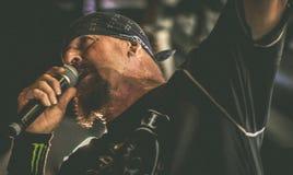 自杀的倾向,麦克Muir在音乐会居住2017年 免版税库存图片