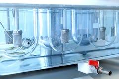 自治可溶性测试器 桌的仿制溶解 免版税库存图片