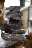 自治市镇巧克力市场平板 库存图片