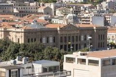 自治都市或香港大会堂墨西拿西西里岛 免版税图库摄影