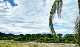 自然、云彩和山 图库摄影