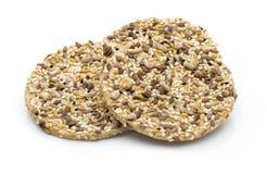 自然与海盐和sesam种子的gourment饼干 免版税库存图片