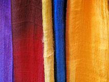自然丝绸围巾详细资料 图库摄影