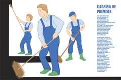 自然主义的图画字符擦净剂清洗 免版税库存图片