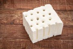 自然乳汁床垫样品 库存图片