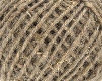 自然亚麻制螺纹 库存图片
