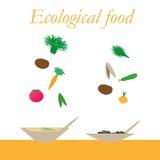 从自然产品的生态食物 库存图片