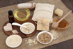自然产品skincare 免版税库存图片