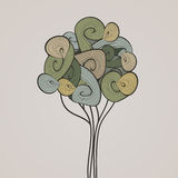 自然传染媒介横幅 摘要挥动树 免版税库存照片
