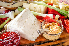 自然传统罗马尼亚食物板材 库存图片