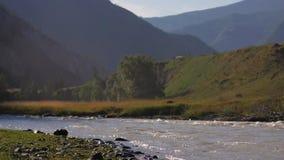 自然保护 E 在山的美好的横向 r 影视素材