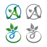 自然健康公司象概念的生活商标 库存照片
