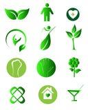自然健康商标 免版税库存图片