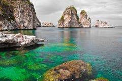 自然储备西西里岛吉普赛人 库存照片