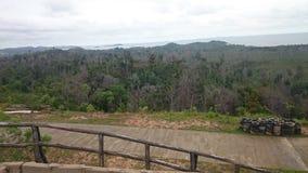 自然全景小山巴淡岛 免版税图库摄影