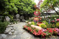 自然公园风景,杭州 免版税库存照片