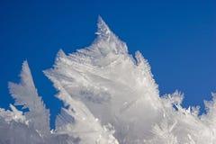 自然冰冷的奇迹  库存图片