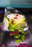 自然刷新的现代饮料 免版税库存照片