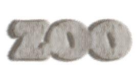 自然动物样式毛皮词-动物园 库存照片