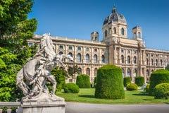 自然历史博物馆在维也纳,奥地利 免版税库存图片