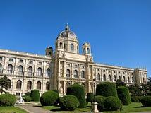 自然历史博物馆Naturhistorisches博物馆的门面 免版税库存图片