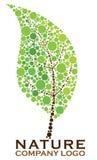 自然叶子商标 免版税库存照片