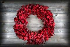 自然叶子花圈,与小插图,为季节性假日 免版税库存图片