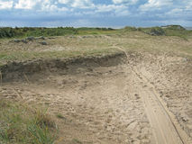 自然含沙停泊 图库摄影