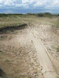自然含沙停泊 库存照片